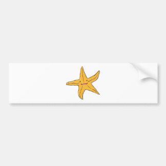 Happy Starfish Bumper Sticker