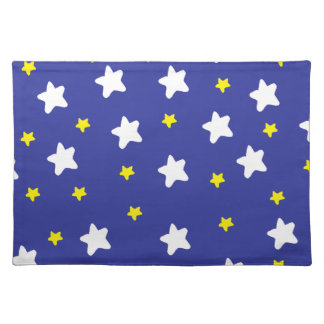 Happy Stars Blue Placemat