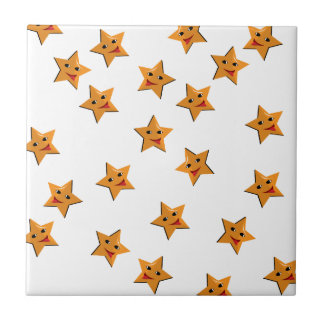 Happy stars ceramic tile
