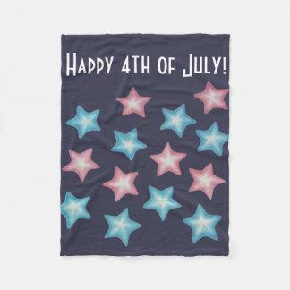 Happy Stars Fleece Blanket