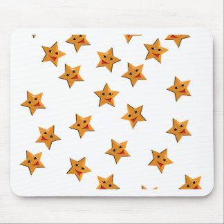 Happy stars mouse pad