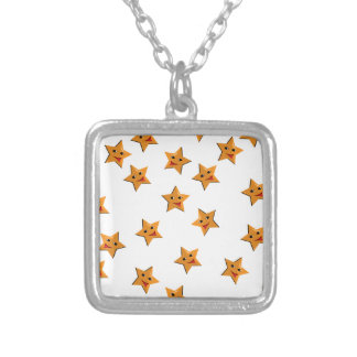 Happy stars silver plated necklace