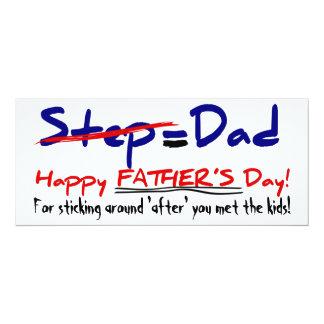 Happy Step-Father's Day 1 - Card 10 Cm X 24 Cm Invitation Card