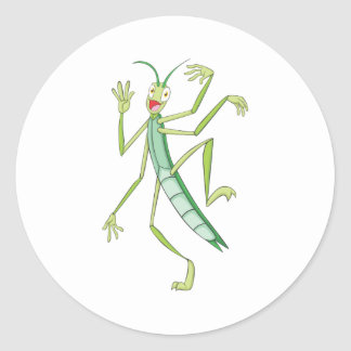 Happy Stick Insect Classic Round Sticker