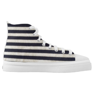 Happy stripes printed shoes