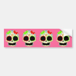 Happy Sugar Skull Art Bumper Sticker