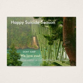 Happy Suicide Season Business Card