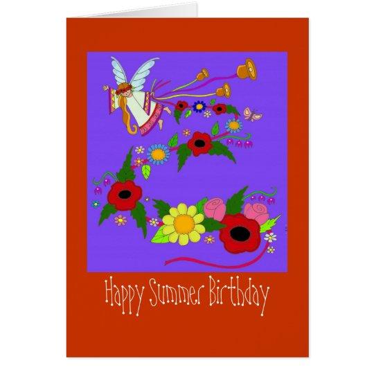 Happy Summer Birthday Ukrainian Folk Art Card