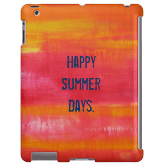 """""""Happy Summer Days"""" Pink Red Yellow iPad Case"""