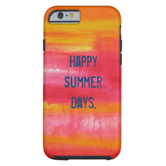 """""""Happy Summer Days"""" Red Pink Yellow Abstract Art Tough iPhone 6 Case"""