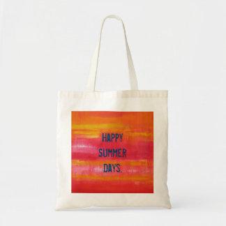 """Happy Summer Days."" Summer Feeling Budget Tote Bag"