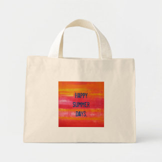 """""""Happy Summer Days."""" Summer Feeling with this cute Mini Tote Bag"""