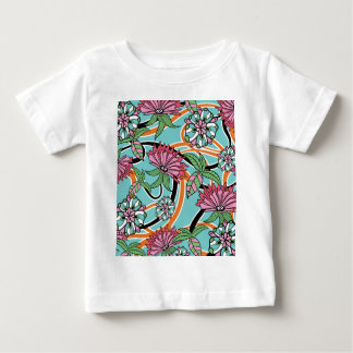 happy summer floral pattern baby T-Shirt