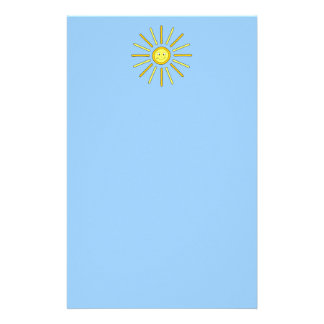 Happy Summer Sun. Yellow and Blue. Stationery