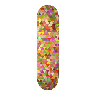 Happy summer triangles custom skateboard