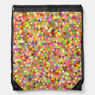 Happy summer triangles drawstring bag