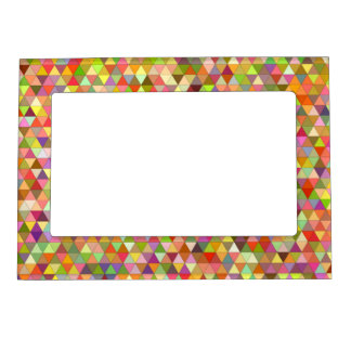 Happy summer triangles frame magnet