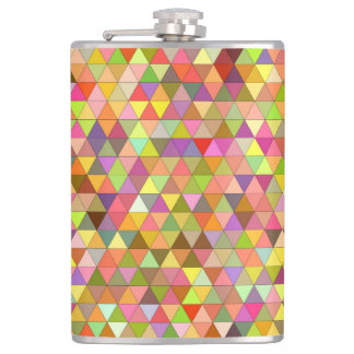 Happy summer triangles hip flask
