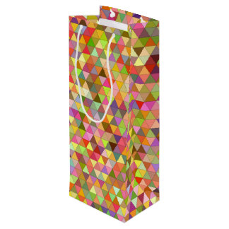 Happy summer triangles wine gift bag