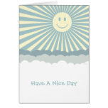 Happy Sun And Clouds Greeting Cards