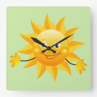 Happy Sun Design Wall Clock