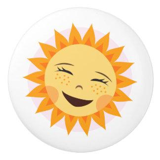 Happy sun door knob - cute design for kids