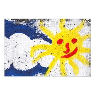 Happy Sun face smiling Art Photo