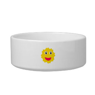 Happy Sun Motif Kids Pattern Bowl