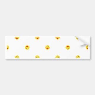 Happy Sun Motif Kids Pattern Bumper Sticker