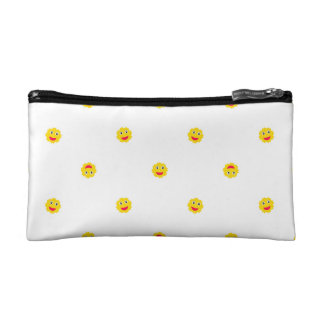 Happy Sun Motif Kids Pattern Cosmetic Bag