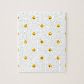 Happy Sun Motif Kids Pattern Jigsaw Puzzle