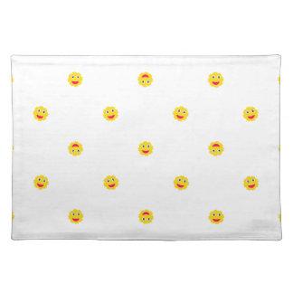 Happy Sun Motif Kids Pattern Placemat