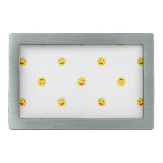 Happy Sun Motif Kids Pattern Rectangular Belt Buckles