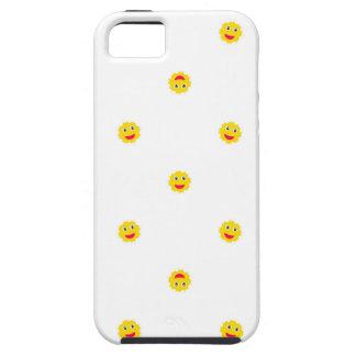 Happy Sun Motif Kids Pattern Tough iPhone 5 Case