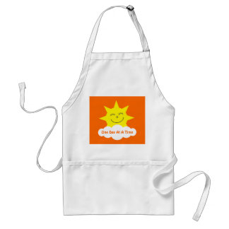 Happy Sun One Dat At A Time Orange Customizable Adult Apron