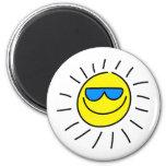 Happy Sun Refrigerator Magnet