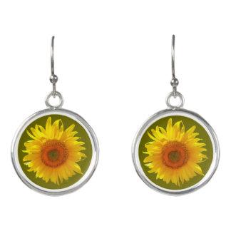 Happy Sunflower Drop Earrings