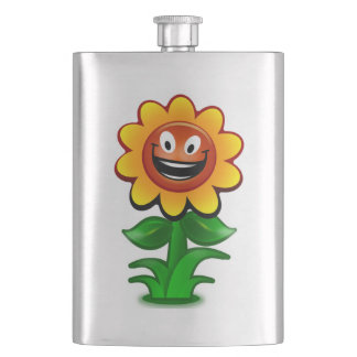 HAPPY SUNFLOWER HIP FLASK