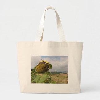 happy sunflower jumbo tote bag