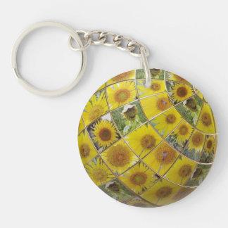 Happy sunflower key chain