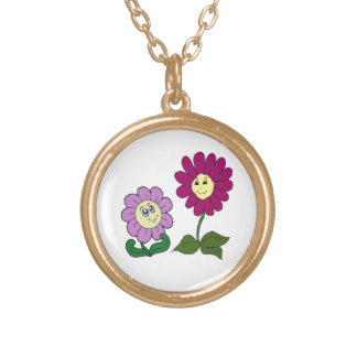 Happy Sunflowers Gold Plated Necklace
