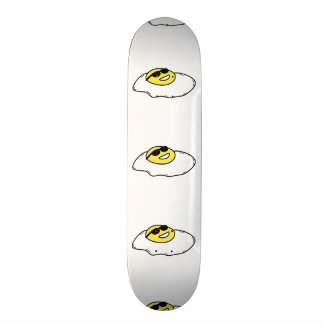Happy Sunny Side Up Egg with Face - Sunglasses Skateboard Deck