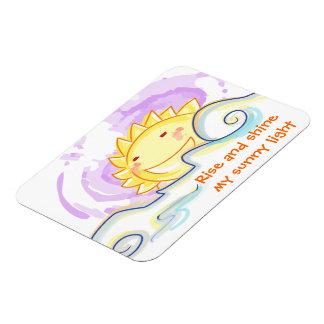 Happy sunrise smile premium magnet
