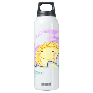 Happy sunrise smiles with clouds bottle 16 oz insulated SIGG thermos water bottle