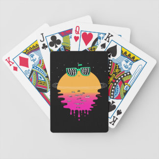 Happy Sunset Bicycle Playing Cards