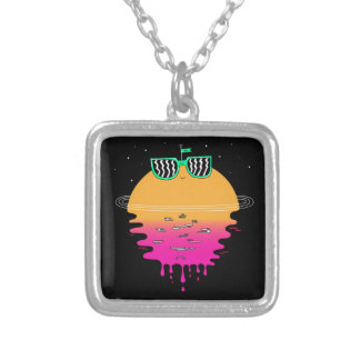Happy Sunset Silver Plated Necklace