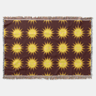 Happy Sunshine cartoon throw blanket