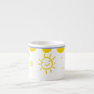 Happy sunshine cup in yellow espresso mug