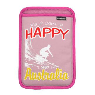 Happy Surfer AUSTRALIA (Wht) iPad Mini Sleeve