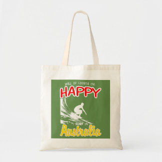 Happy Surfer AUSTRALIA (Wht) Tote Bag